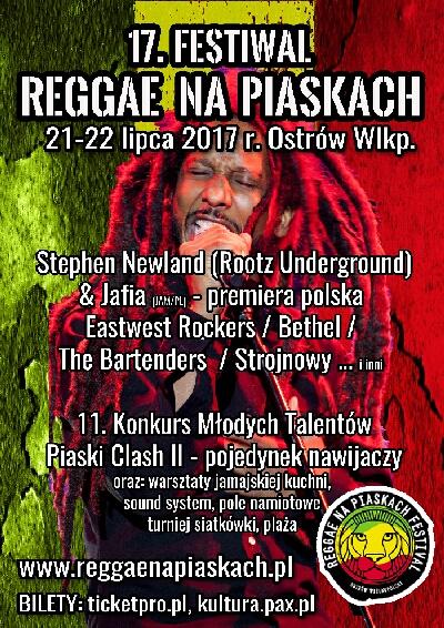 Reggae na Piaskach 21-22 lipca 2017